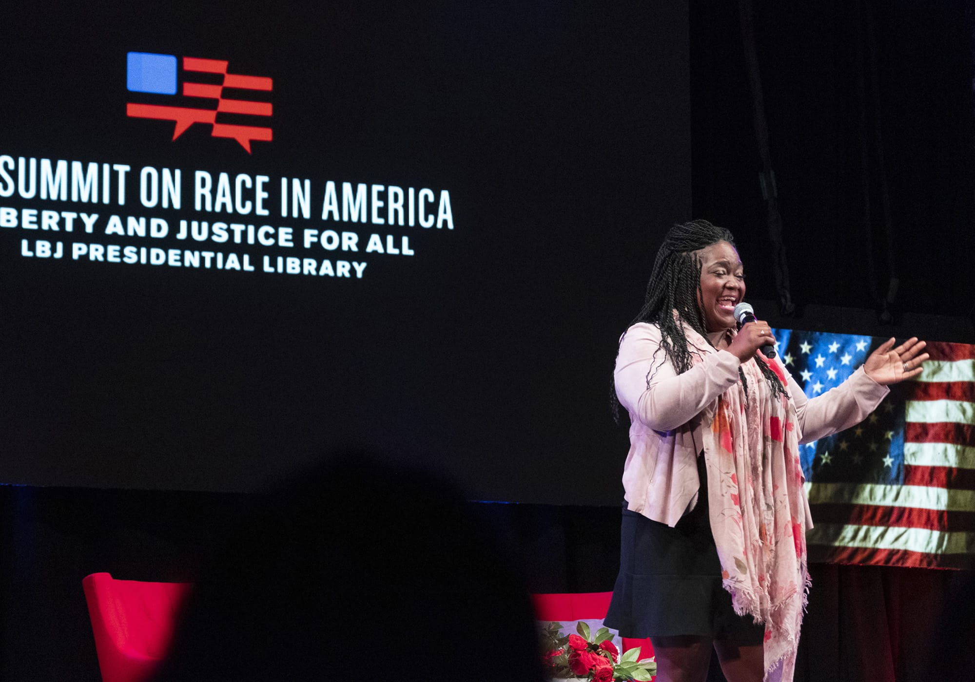 Shemekia Copeland performing at The Summit on Race in America.